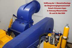 Eröffnung erste Wasserkraftanlage in Wiesertsweiler Freitag + Samstag